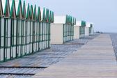 Row of beach huts — Stock Photo