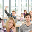 High school student raising hands — Stock Photo #4692471