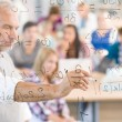 Math lesson at high school - students — Foto Stock