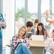Group of students in classroom — Stock Photo #4692526