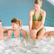 Swimming pool - happy relax in hot tub — Stock Photo