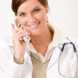Female doctor on the phone — Stock Photo #4693459