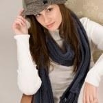 Portrait of fashion model wearing cap — Stock Photo #4693504