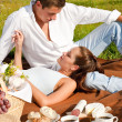 Royalty-Free Stock Photo: Picnic - Romantic couple in spring nature
