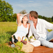 Picnic - Romantic couple in spring nature — Stock Photo #4693676