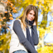 Autumn park - fashion model woman — Stock Photo #4694367
