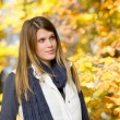 Autumn park - fashion model woman — Stock Photo #4694385