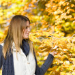 Autumn park - fashion model woman — Stock Photo #4694388
