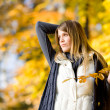 Autumn park - fashion model woman — Stock Photo #4694392