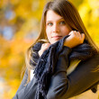 Autumn park - fashion model woman — Stock Photo #4694393