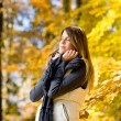 Autumn park - fashion model woman — Stock Photo #4694396
