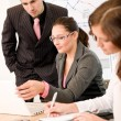 Business meeting - group of in office — 图库照片