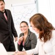 Стоковое фото: Business meeting - group of in office