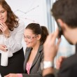 Stock Photo: Business meeting - group of in office