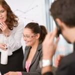 affärsmöte - grupp i office — Stockfoto