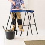 Home improvement - handyman cut tile — Stock Photo #4694997