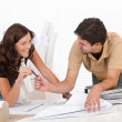 Stock Photo: Man and woman at architect office