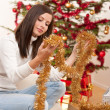 Young woman with Christmas decoration — Stock Photo #4695729