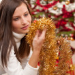 Young woman with Christmas decoration — Stock Photo #4695742