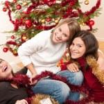 Three cheerful women having fun on Christmas — Stock Photo #4695890