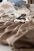 Fashion designer studio with professional equipment — Stock Photo