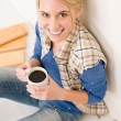 Stock Photo: Home improvement - handywoman coffee break