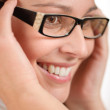 Stock Photo: Designer glasses - trendy womfashion