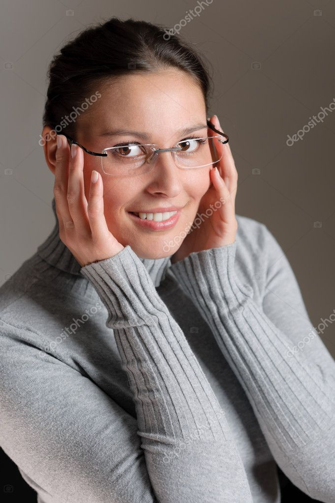 Designer glasses - portrait of successful architect woman  Stock Photo #5011554