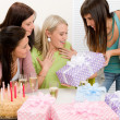 Birthday party - woman getting present — Stock Photo #5193328