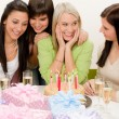 Birthday party - group of woman celebrate — Stock Photo #5193346