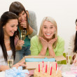 Birthday party - surprised woman celebrate — Stock Photo #5193360