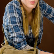 Fashion model - young woman country style — Stock Photo
