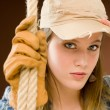Fashion model - young woman country style — Stock Photo #5193937