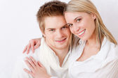 Couple in love - romantic togetherness — Stock Photo
