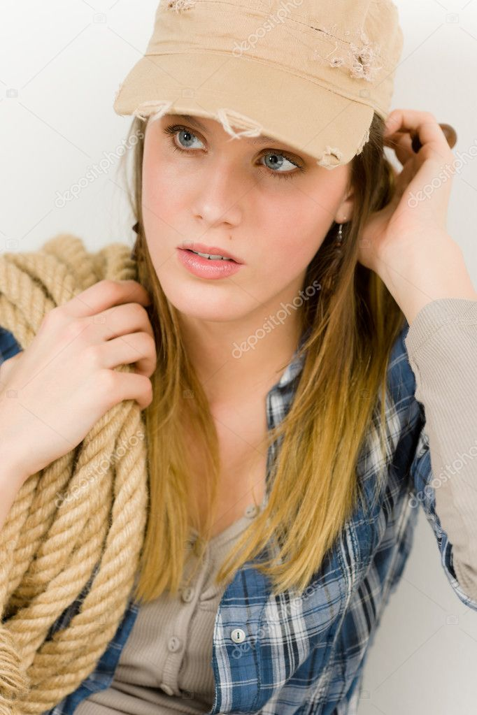 Fashion Model Young Woman Country Style Stock Photo Candyboximages 5193929