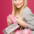 Stock Photo: Shopping woman fashion happy bag