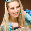 Shopping woman fashion happy bag — Foto Stock