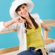 Summer - young happy woman relax sunny — Stock Photo