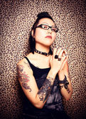 Tattoo Princess — Stock Photo