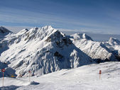 Ski slopes in Alps — Stock Photo