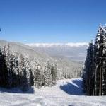 Skiing slope in Bansko, Bulgaria — Stock Photo