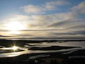 утро в pingvellir национальном парке, исландия — Стоковое фото