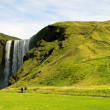Skogarfoss waterfall in Iceland — Stock Photo
