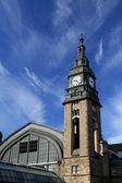 Clock tower of Hamburg mail railway station — Stock Photo