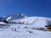 Slope of ski resort in Bansko, bulgaria — Stockfoto