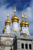 Cupolas of Russian church in Geneva — Stock Photo