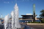 Vista verso il royal opera house a copenaghen — Foto Stock