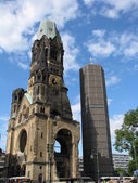 Kaiser-wilhem-gedachtniskirche in berlin, germany — Stock Photo