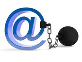 Censoring the E-mails — Stock Photo