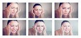 Woman having a migraine — Stock Photo